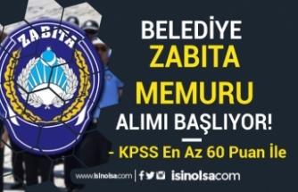 Demirözü Belediyesi 60 KPSS Puanı İle Zabıta Memuru Alımı Yapacak