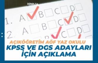 KPSS ve DGS'ye Girecek Açıköğretim AÖF Yaz Okulu İçin Önemli Açıklama!
