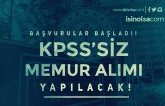 Kültür Bakanlığı KPSS siz Memur Alımı Başvuruları Başladı!