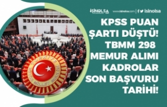 TBMM Memur Alımı KPSS Puanı Şartı Düştü! 298 Personel Alımı Başvuru Başladı! Kadrolar!