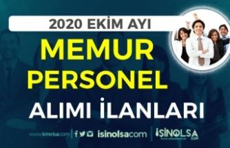 2020 Ekim Ayı Kamuya Personel ve Memur Alımı İlanları! Lise, Ön Lisans ve Lisans