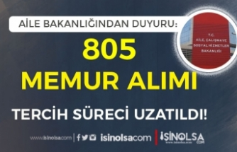 2828 Sayılı Kanun Kapsamında 805 Memur Alımı Başvuru Süreci Uzatıldı!