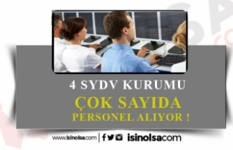 4 SYDV Farklı Kadrolarda Personel Alacak!