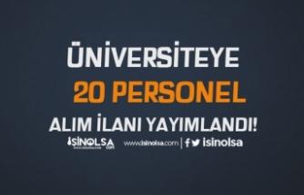 Adnan Menderes Üniversitesi Kadın Erkek 20 Personel Alımı Yapacak! İŞKUR İle