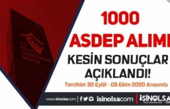Aile Bakanlığı 1000 ASDEP Alımı Kesin Sonuçları Açıkladı! Tercihler 30 Eylül Başlıyor