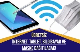 Müjdeler Ardı Ardına Geldi! Ücretsiz İnternet, Hediye Bilgisayar Tablet ve Maske Dağıtılacak!