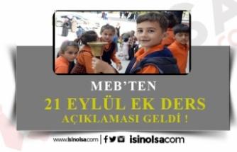 Öğretmenlere 21 Eylül'den Sonra Ek Ders Ücreti Açıklaması!