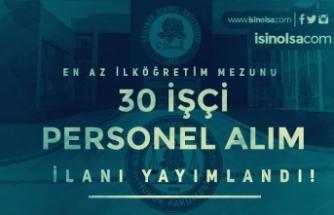 Süleyman Demirel Üniversitesi 30 İşçi Personel Alımı Yapıyor İlköğretim Mezunu