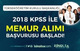 Yükseköğretim Kurulu Başkanlığı ( YÖK ) 2018 KPSS İle Memur Alımı Başladı!