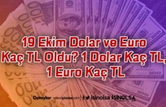 19 Ekim Dolar ve Euro Kaç TL Oldu? 1 Dolar Kaç TL, 1 Euro Kaç TL