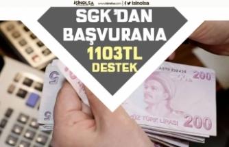 AÇSHB, SGK'dan Başvuranlara 1.103 TL Ödeme Yapılacak!