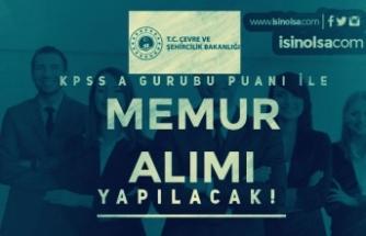 Çevre ve Şehircilik Bakanlığı TKGM 20 KPSS A Grubu Memur Alımı Yapıyor!