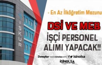 DSİ ve İl Milli Eğitim Müdürlüğü Engelli Personel Alımı Yapacak