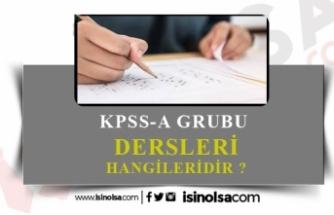 KPSS-A Grubu Dersleri Nelerdir?