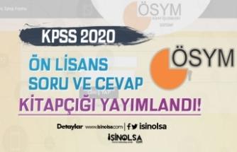 ÖSYM'den Duyuru: 2020-KPSS Ön Lisans Soru ve Cevap Kitapçığı Yayımlandı