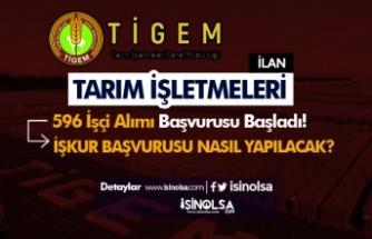 TİGEM 100 Daimi ve 496 Geçici İşçi Alımı Başvurusu İŞKUR'da Başladı!