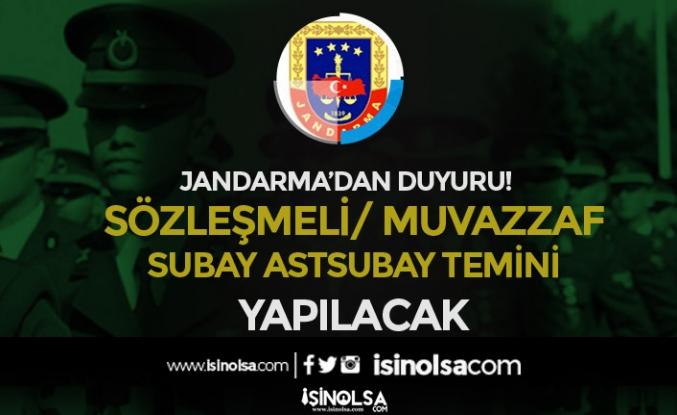 Jandarma Sözleşmeli / Muvazzaf Subay Astsubay Temini Duyurusu Yaptı