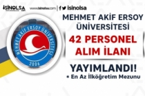 Mehmet Akif Ersoy Üniversitesi KPSS'siz Kura İle 42 Personel Alım İlanı Yayımladı!
