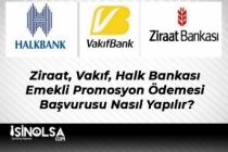 Ziraat, Vakıf, Halk Bankası Emekli Promosyon Ödemesi Başvurusu