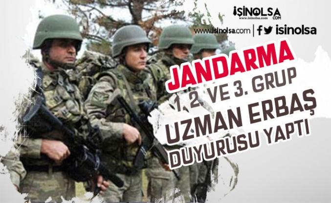Jandarma 1. 2. ve 3. Grup Uzman Erbaş Alımı Duyurusu Yaptı! Sıra 4. Grup'ta
