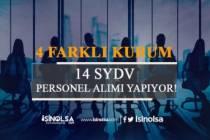4 SYDV 14 Personel Alımı Yapacak!