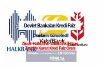 Devlet Bankaları Kredi Faiz Oranlarını Güncelledi! Ziraat-Halkbank-Vakıfbank İhtiyaç, Taşıt Ve Konut Kredi Faiz Oranı