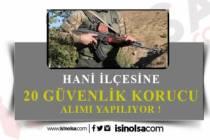 Jandarma Komutanlığı Hani İlçesine 20 Korucu Alımı Yapılacak!