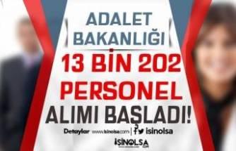 Adalet Bakanlığı 2021 Yılı 13 Bin 202 Kamu Personeli Alımı Başladı!