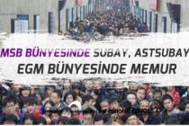 MSB Bünyesinde TSK, MSÜ Subay, Astsubay Alımı EGM Memur Alımı!