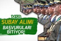 MSB Subay Alımı Başvuruları 13 Ocak Tarihinde Bitiyor!