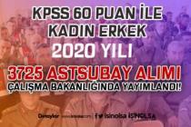KPSS 60 Puan İle Kadın Erkek 2020 Yılı 3725 Astsubay Alım İlanı AÇSHB'de Yayımlandı!