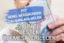 PTT Personeline 2 Bin Tl Pandemi Desteği Verilecek! Hangi Kadrolara Ödenecek?