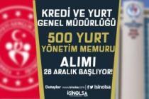 KYGM 63 Şehirde 500 Yurt Yönetim Memuru Alımı Başvuruları 04 Ocak Başlıyor!