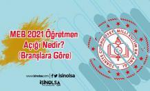 MEB 2021 Öğretmen Açığı Nedir? (Branşlara Göre)