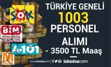 3500 TL Maaş İle Türkiye Geneli ŞOK, BİM, A101, MİGROS 1003 Personel Alıyor!