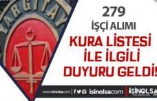 Yargıtay'dan 279 İşçi Alımı İçin Kura İşlemleri Hakkında Duyuru