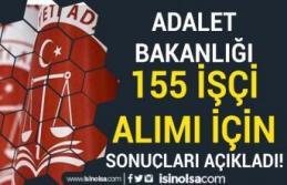 Adalet Bakanlığı 155 İşçi Alımı ( Temizlik...