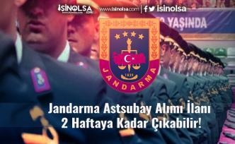 Jandarma Astsubay Alımı İlanı 2 Haftaya Kadar Çıkabilir! (Lisans - Önlisans)