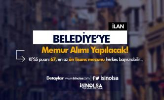 Yıldıztepe Belediyesi 67 KPSS Puanı ile Memur Alımı İlanı 2021