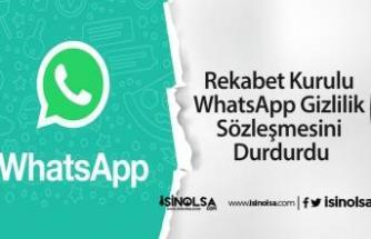 Rekabet Kurulu WhatsApp Gizlilik Sözleşmesini Durdurdu