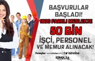 İŞKUR ile 1600 Farklı Meslekte 50 Bin Memur, Personel ve İşçi Alımı Başladı