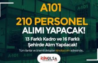 A101 İŞKUR ile 210 Personel Alımı Yapıyor! 16 şehir 13 Farklı Kadro