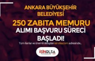Ankara Büyükşehir Belediyesi 250 Zabıta Alımı Başvuru Formu Ekranı