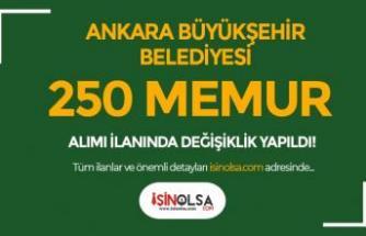 Ankara Büyükşehir Belediyesi Memur Alımı Güncelleme İlanı Resmi Gazetede!