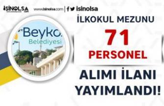 Beykoz Belediyesi Haftada 45 Saat Çalışacak 71 Personel Alımı Yapacak