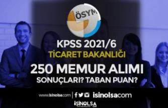 KPSS 2021/6 Ticaret Bakanlığı 250 Memur Alımı Sonuçları Bekleniyor! Taban Puan?
