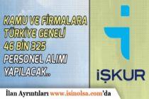 İŞKUR Üzerinden Türkiye Geneli 46 Bin 325 İşçi, Memur Personel Alınacak!
