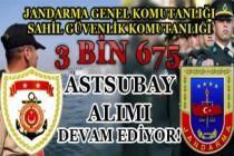 Jandarma ve Sahil Güvenlik Komutanlığı 3 Bin 675 Astsubay ( Askeri Personel ) Alımı Devam Ediyor!