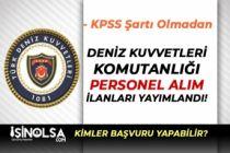Deniz Kuvvetleri Komutanlığı ( DKK ) Engelli İşçi Alım İlanı Yayımlandı!