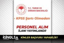 İl Tarım ve Orman Müdürlüğü İŞKUR'da Personel Alım İlanı Yayımladı!
